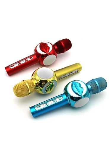 Doppler Lips200 Ses değişim Özelliki Çocuk Mikrofonu Sarı